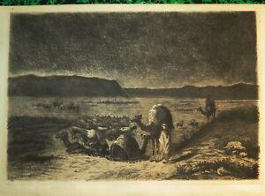 Casimir MARIAUD (Digne 1822-1894) EAU FORTE ORIGINALE ORIENTALISTE ALGERIE 1876