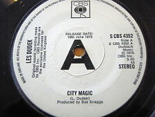 "LES DUDEK - CITY MAGIC  7"" VINYL PROMO"