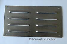 1 St. Lüftungsgitter 214 x 118mm Edelstahl A2 gebürstet Kiemenblech Abluftgitter