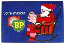 Original vintage poster BP HOME HEATING SANTA EASY CHAIR c.1960