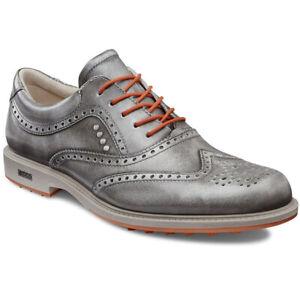 Excellent ECCO TOUR HYBRID GRAY ORANGE Men's Golf Shoes 43-9/9.5 WERE $300