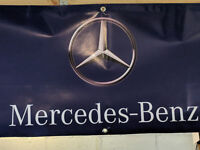 Mercedes Benz Vinyl Banner Flag Shop Garage Mancave Sign 1300x500mm FREE Post