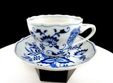 """BLUE DANUBE BLUE ONION WAISTED 2 3/4"""" SCALLOPED CUP AND SAUCER"""