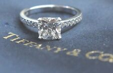 Tiffany & Co Platinum Novo Diamond Engagement Ring G-VVS2 1.22Ct+.16Ct