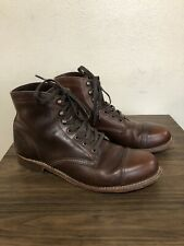 Wolverine 1000 Mile Cap Toe Leather Ankle Boots Men's Size 9.5D Made In USA