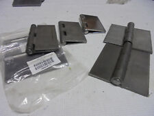 7 Lot Odd Graingerother Mix Lot 4 Steel Weld On Surface Hinges