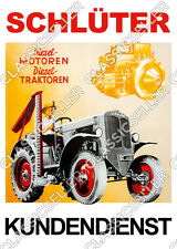 Schlüter Traktor Schlepper DS25B Poster Plakat Bild Tafel Schild S450 Diesel