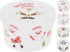 Large Christmas Cake Storage Box Christmas Sweets Biscuit Santa Cookies Tin Tub