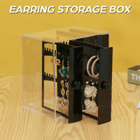 4/5 Drawers Jewelry Box Earring Necklace Holder Storage Cabinet Case Organizer