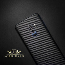 SopiGuard Carbon Fiber Sticker Skin Back Side for Samsung Galaxy S9+ S9 Plus