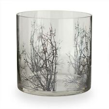 "13097A 6"" Candle Holder Glass Vase w/Black Tree Branch Halloween Decoration"
