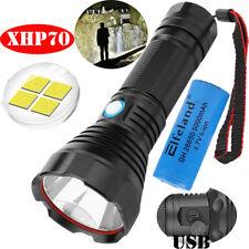 150000 Lumens LED P70 Flashlight Torch USB Charging Strong Light Ultra-Luminous