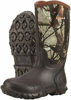 Hisea Men's Mid Rain Boots Waterproof Rubber Boots for Men Muck, Camo, Size 12.0