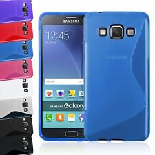 S-LINE WAVE TRANSLUCENT CLEAR TPU GEL SOFT CASE COVER FOR SAMSUNG GALAXY A8 2017