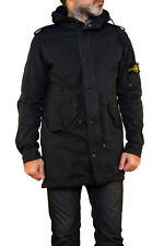 Stone Island Vintage 90s Cotton Jacket Osti Casuals Emo Hooded Parka Black L FAB