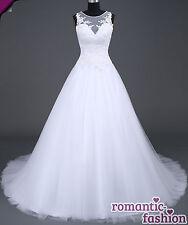 ♥Brautkleid, Hochzeitskleid Maßanfertigung alle Größen Weiß oder Creme+W045nM♥