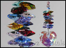 Crystal AB Heart Suncatcher with added Swarovski Multi Colour's or Choose Colour