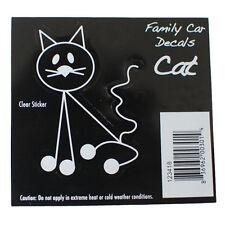 Family Car CAT Window Stickers Decals Vinyl Figure Decoration