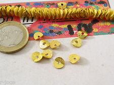 20 dischetti puntinati e piegati in ottone dorato di 6,5x1 mm gg