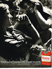 PUBLICITE ADVERTISING 064  1971   WINSTON   cigarettes