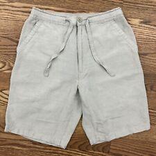 CUBAVERA Linen Blend Casual Drawstring Shorts SMALL beige summer beach