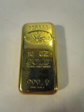Vintage Gold Credit Suisse Butane Lighter,  24K plated, used as a promotion item