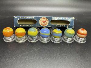 Rare Akro Original Box No. A-16 Akro Agates Marble 7 Box Set Vintage Marbles