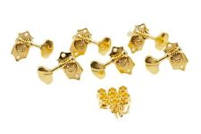 Grover Sta-Tite V97-18G guitar tuners, 18:1, solid peghead, gold, butterbean