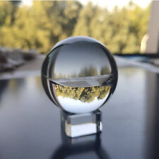 1PC 50mm Clear Glass Crystal Ball Crystal Base Square Feng Shui Decoration Gift
