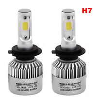 1X S2 H7 COB LED Headlight Kit 72W 8000LM Car Bulb Fog Light White 6500K 12V 24V