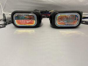"3.5"" Universal Rainbow 12V 55W H3 FOR DRIVING BUMPER FOG LIGHTS TOYOTA KIT SET"