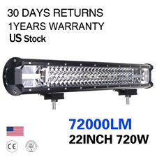 22'' 720W Offroad LED Work Light Bar Spot Flood Driving Lamp Car Truck Parts SGU