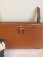 Dooney and Bourke Wristlet/Handle Bag Leather Canel/Light Brown NWT