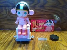 Pop Mart Kennyswork Molly Happy Train Mini Figure Space Molly - Pink