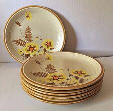 Seven Vintage 1970's Mikasa Nature's Song Fern Flower Dinner Plates