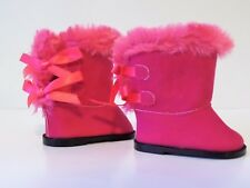"""Pink Fur Hugg Boots Fits 18"""" American Girl Doll Clothes Shoes"""