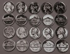 1960-1967 & 1968-69 S Jefferson Nickel Gem Proof Set Run of 10 Coin US Mint Lot