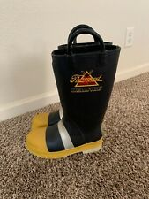 New Thorogood Hellfire Rubber Steel Toe Structural Firefighting Boots Mens Size7