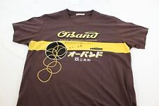 "XL O Band Japanese Rubber Band ad shirt 22"" across"