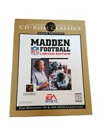 Madden Football NFL Limited Edition CDROM Electronic Arts Big Box Retro Untested