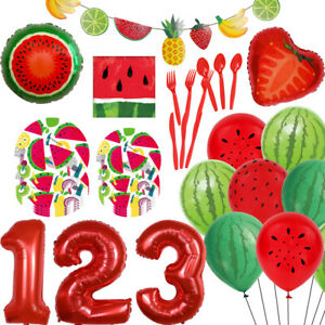 12/18/32 Inch Watermelon Theme Tableware Balloon Set Summer Party Decoration HO