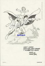 Superman and Little Orphan Annie 1984 Dc Comics Vintage Art Print Leonard Starr