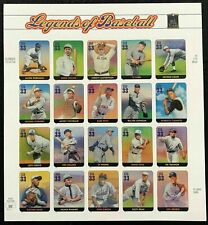 Legends of Baseball - Sheet of 20 FV 33cent Stamps Scott #3408 MINT never hinged