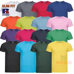 Mens Russell Slim Fit T-Shirt Plain Blank SLIM FITTING T-SHIRTS R155M