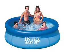 Intex Swimming Pool Summer Outdoor Family Fun Easy Set Round Ground 8ft. x 30in.