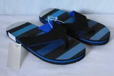 NEW Boys Flip Flops Size Large 2 - 3 Black Blue Sandals Summer Shoes Pool Beach