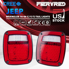 LED Tail Light Rear Lights Brake Reverse Turn Signal Jeep Wrangler TJ CJ 76-06