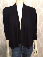 Testimony Los Angeles Women Black Cardigan Sweater Small Shrug Studs 3/4 Sleeve