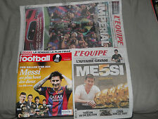 "DIARO DEPORTIVO ""FRANCE FOOTBALL""+""L'EQUIPE"" MESSI BALON DE ORO 2015 BARCELONA"