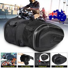Touring Pair Motorcycle Saddle Bag Expandable Panniers Side Luggage Saddlebag AU